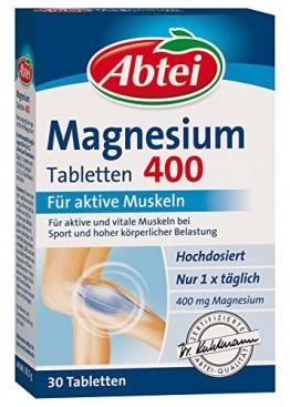 Abtei Magnesium 400mg Tabletten, 30 Stück, 2-er Pack (2 x 39,5g) - 1