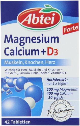 Abtei Magnesium Calcium + D3, 3er Pack (3 x 83,5 g) - 1