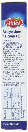 Abtei Magnesium Calcium + D3, 3er Pack (3 x 83,5 g)