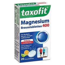Taxofit Magnesium 400 + B6 + B12 Brausetabletten 20 stk - 1